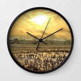 Overcast Sunrise 2 Wall Clock