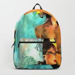 Jean-Gabriel Domergue painting remake Backpack