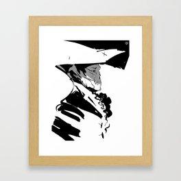 john hancock — ink Framed Art Print