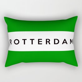 Rotterdam city Netherlands country flag name text Rectangular Pillow