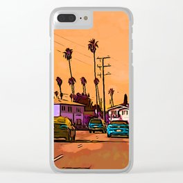 LA street Clear iPhone Case