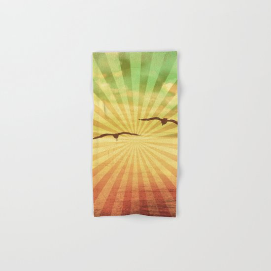 Fly With Me - vintage style Hand & Bath Towel