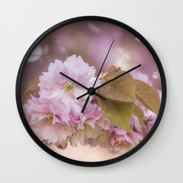 Cherry Blossom LOVE - Sakura - Pink Flower Flowers Wall Clock