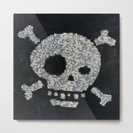 Confetti's skull Metal Print