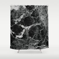 marble Shower Curtains featuring Marble by Three of the Possessed