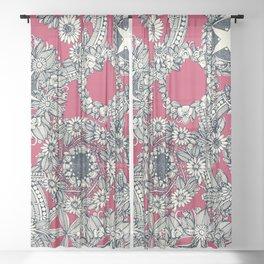 cirque fleur rose Sheer Curtain