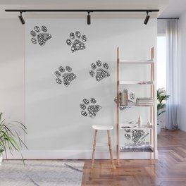 Cat tracks Wall Mural
