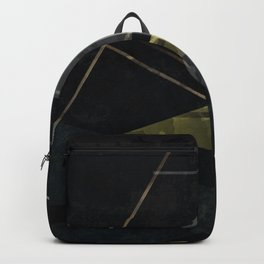 Abstract painting in black colors . Backpack