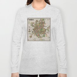 Vintage Map of Spokane WA (1910) Long Sleeve T-shirt