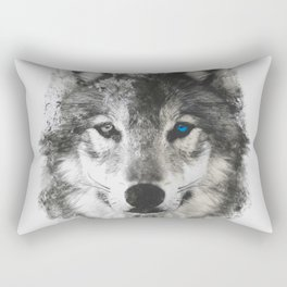 WOLF SMUDGE Rectangular Pillow