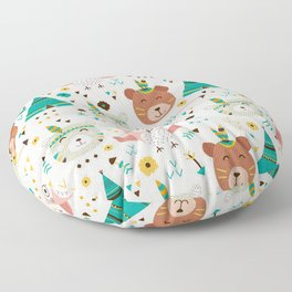 Boho Forest , Woodland Critters Floor Pillow