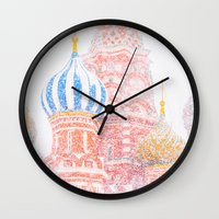 russian Wall Clocks featuring Russian Winter by digital2real