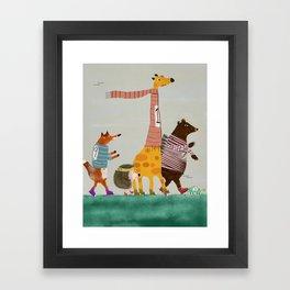 the fun run Framed Art Print