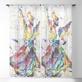 Whirling Dervish Sheer Curtain