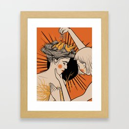Nest Brain Framed Art Print