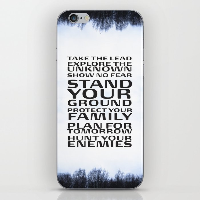 Stand your ground by Brian Vegas iPhone Skin