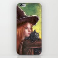 witch iPhone & iPod Skins featuring Witch by Miguel Angel Carroza
