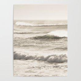 Windswept Waves Poster
