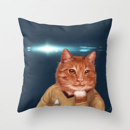 William Catner Throw Pillow