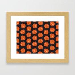 Spoopy Pattern Framed Art Print