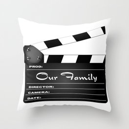 Our Family Clapperboard Throw Pillow