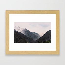 Nepal Series | Three Peaks, Himalayas Framed Art Print
