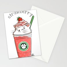 Strawberry CATpuccino Stationery Cards