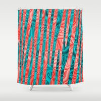 community Shower Curtains featuring Gated Community by RingWaveArt