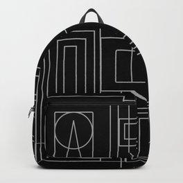 Minimalist Art Deco Black & Grey Backpack