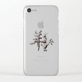 The Zodiac 12 - Goat Clear iPhone Case