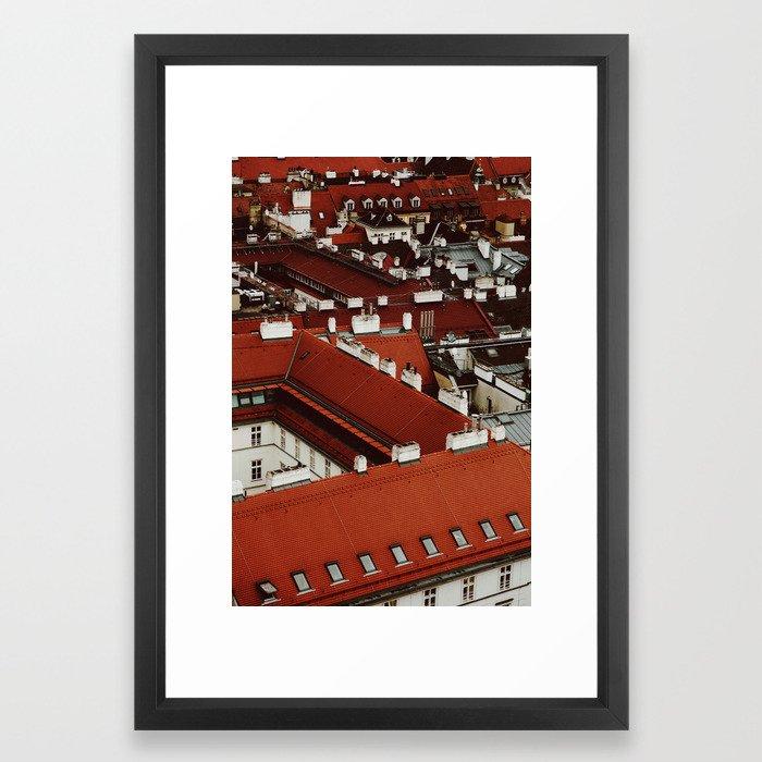 Vienna Rooftops Framed Art Print