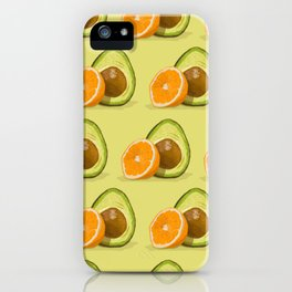 Orange & Avocado iPhone Case