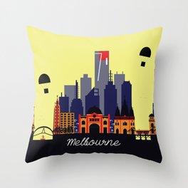 Lovely Melbourne Throw Pillow