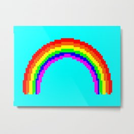 Raw Rainbow Metal Print
