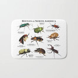Beetles of North America Bath Mat