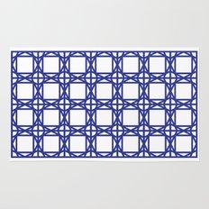 DG GEOMETRIC – COBALT BLUE Rug