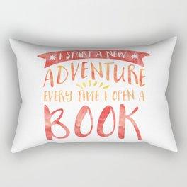 I Start a New Adventure Every Time I Open a Book Rectangular Pillow