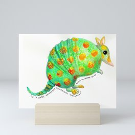 """""""Armadillo"""" de la serie mamíferos colombianos"""" Mini Art Print"""