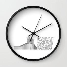 Maracaibo Relampaguea Wall Clock