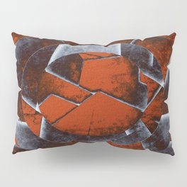 Concentric Rust - Abstract, geometric, tectured art in rustic brown, black and white Pillow Sham