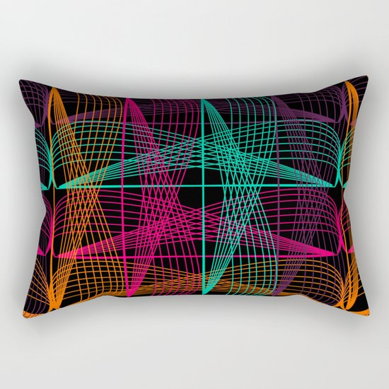 Neon threads Rectangular Pillow