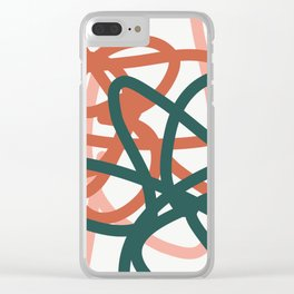 Abstract Lines 01A Clear iPhone Case