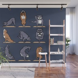 American Pit Bull Terrier Yoga Wall Mural