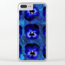 Deep Blue Velvet Clear iPhone Case