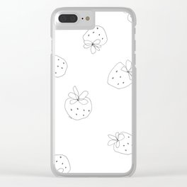 Your Color no.2 - strawberry illustration fruit pattern Clear iPhone Case