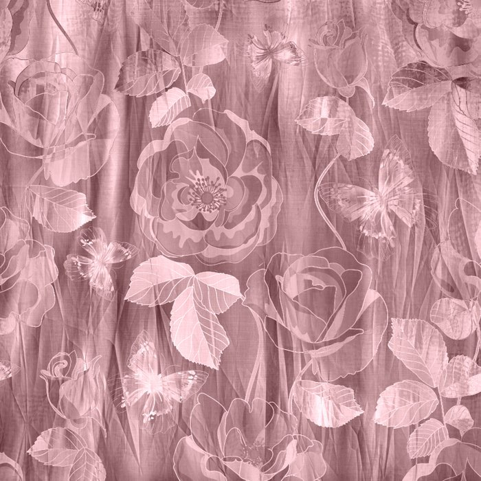 Silk with Roses and Butterflies 2 Comforters