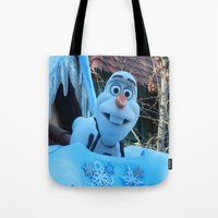 olaf Tote Bags featuring Olaf  by MandiMccl