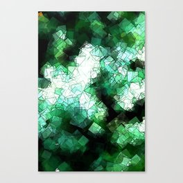 square fantasy snow in the treetops Canvas Print