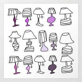 purple clear lamps Art Print