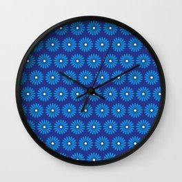 BlueFlowers Wall Clock